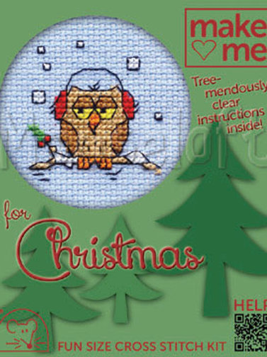 MAKE ME FOR CHRISTMAS :Cross Stitch Kit:  Cosy Owl