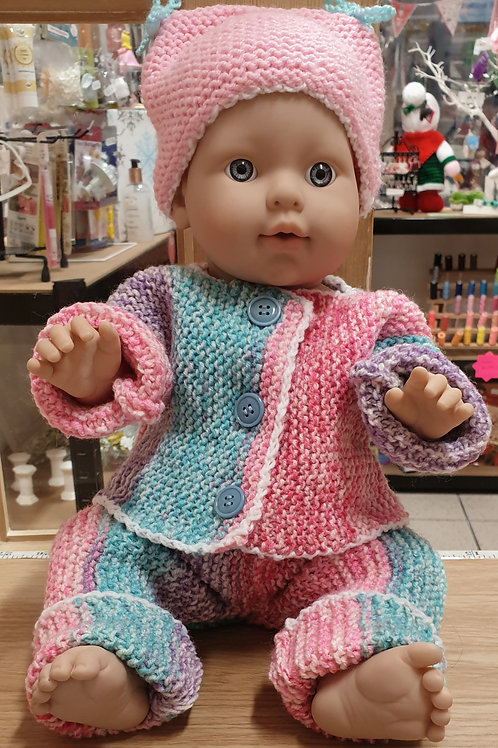 """Made With Love Handknitted Dolls clothes up to 12"""" chest (31cm)"""