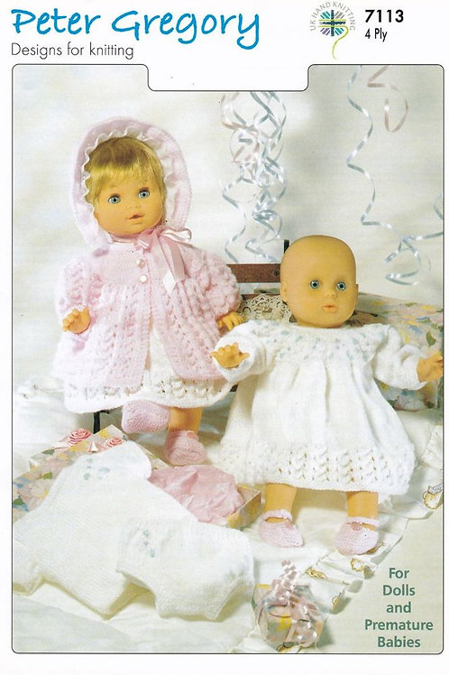 Baby Doll Layette: 4 Ply Knitting Pattern