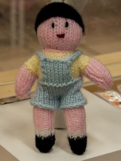 Hand Knitted little boy Toy Not Suitable children