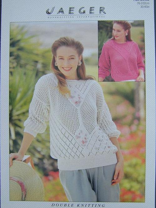 Patons Ladies Sampler Sweater Knitting Pattern 6452