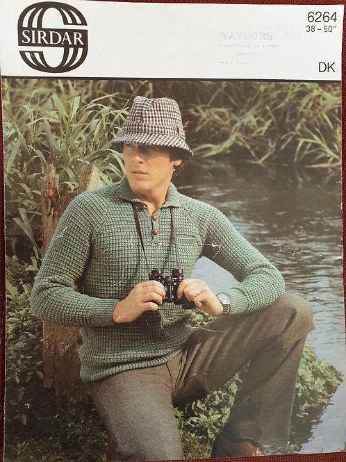 Pre-loved sirdar mans knitting pattern