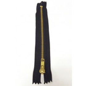 "Black 6""/15cm  Closed End Auto-Lock Jeans Zip"
