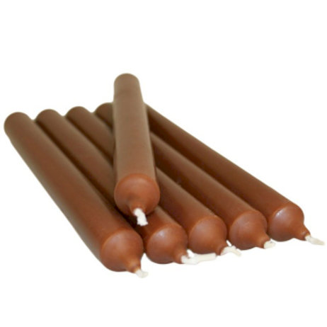 Pack of 5  Candles 21 cm: Coffee