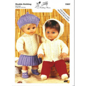 Teddy Knitting Pattern - Double Knit Dolls Outfits