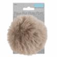 Pom-Pom Faux Fur 11cm; Natural