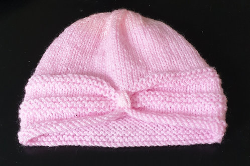 Handmade turban hat for a toddler