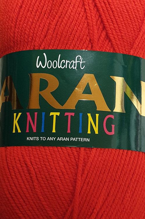 Woolcraft  Aran Knitting  400g: Red
