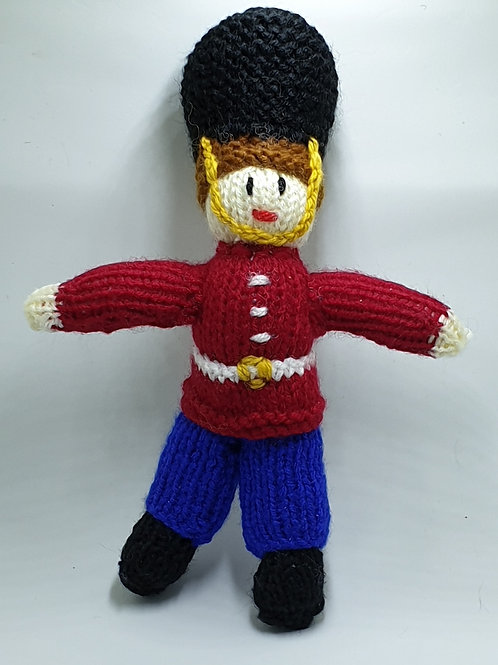 Small Hand Knitted Soldier Made With Love By Jane