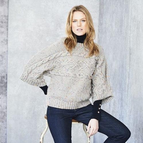 Special Aran with Wool Pattern Ladies jumper