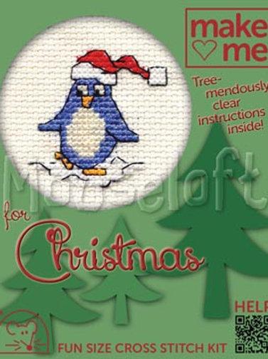MAKE ME FOR CHRISTMAS: Cross Stitch Kit : Penguin