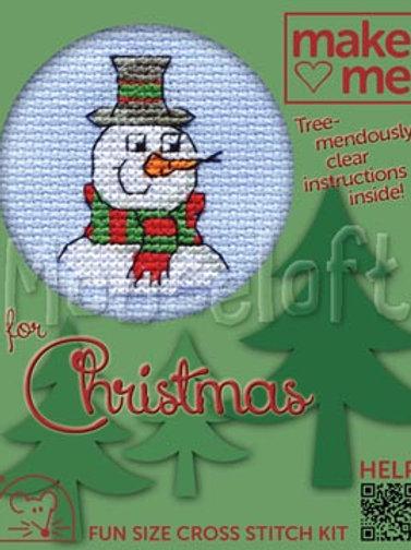 MAKE ME FOR CHRISTMAS: Cross Stitch Kit: Snowman