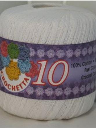 Crochetta White Crochet Cotton