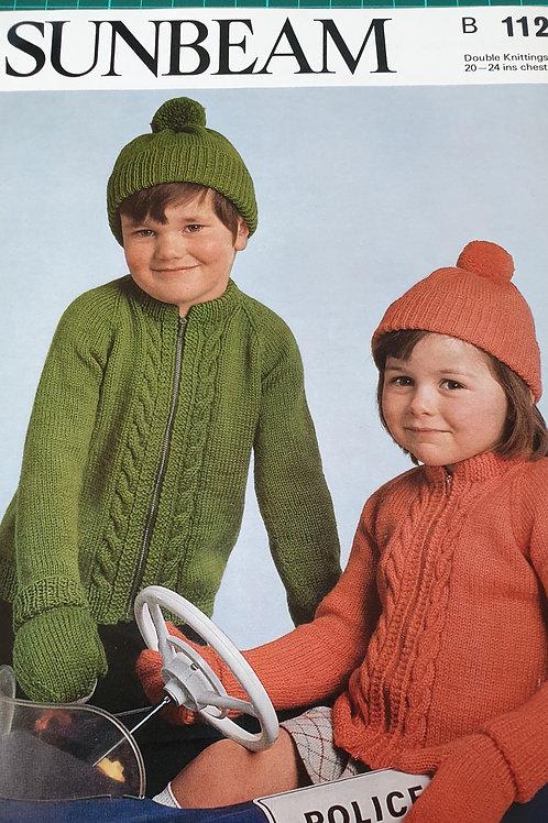 Pre-loved Sunbeam childrens knitting pattern. D.k.