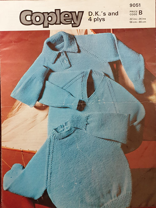 Vintage Copley child's classic sweaters knitting pattern