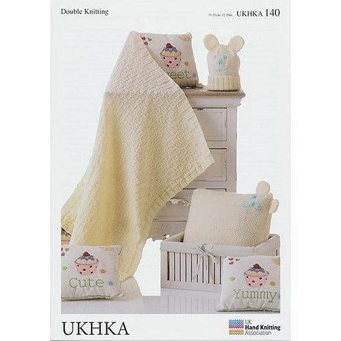UKHKA DK Knitting Pattern: Baby Knitting Blanket