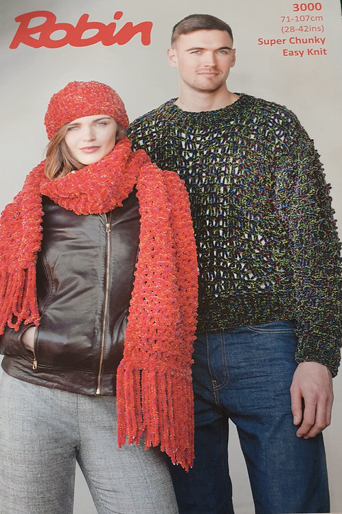 Pre-loved Robin for his and hers. Knitting Pattern