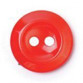 Buttons Red Classic 2 Hole 14mm