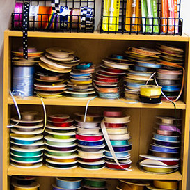 A range of ribbons from only 50p a meter