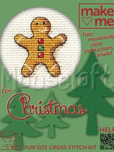 MAKE ME FOR CHRISTMAS:Cross Stitch Kit:  Gingerbread Man