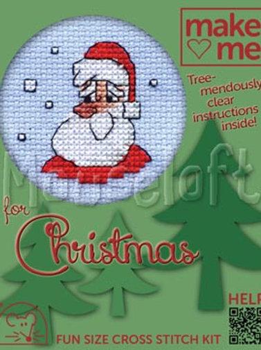 MAKE ME FOR CHRISTMAS; Cross Stitch Kit: Santa