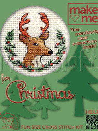 MAKE ME FOR CHRISTMAS: Christmas Stag: Cross Stitch Kit