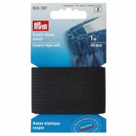 Prym Soft loom Elastic 40mm  Black 1m