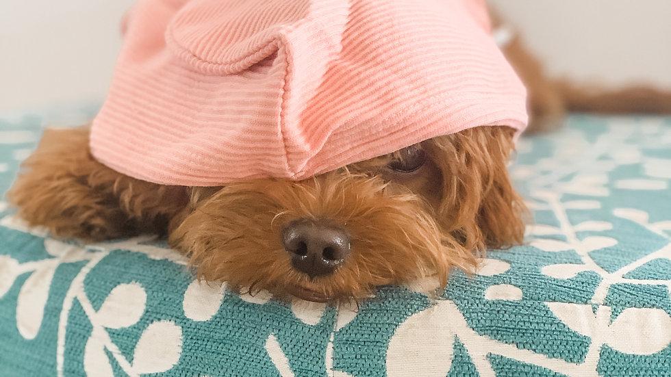 Ribbed Hoodie: Pink