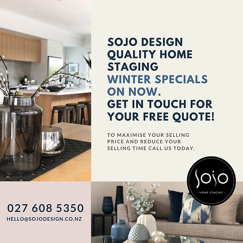 Sojo Design Home Staging Winter Sale on