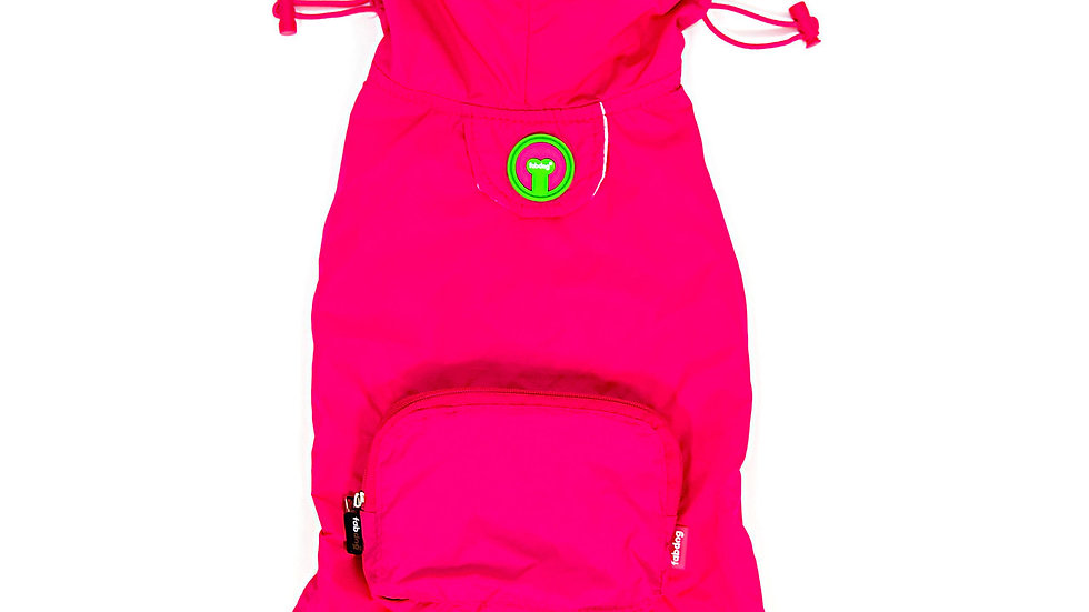 fabdog® Hot Pink Pack Away Raincoat