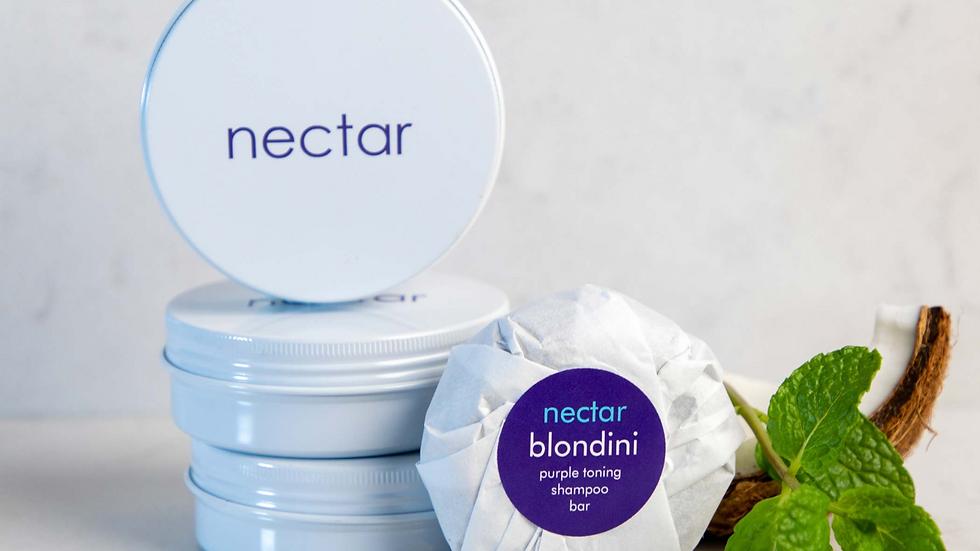 Blondini Purple Toning Shampoo Bar for Blondes/Greys 80g (refill)