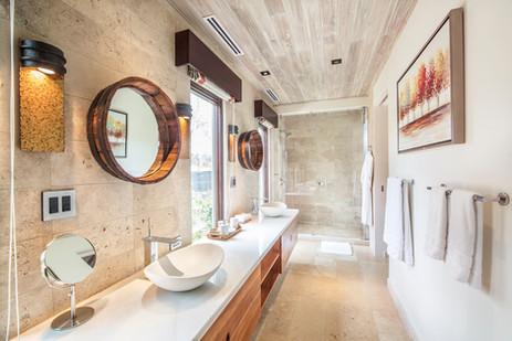 casa madera shower