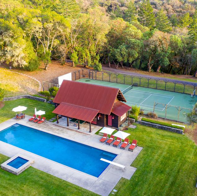 rental villa pool