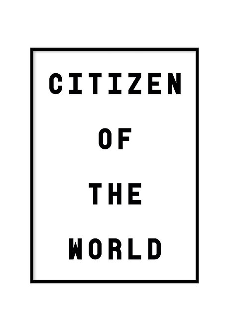 CITIZEN OF THE WORLD, PRINTABLE