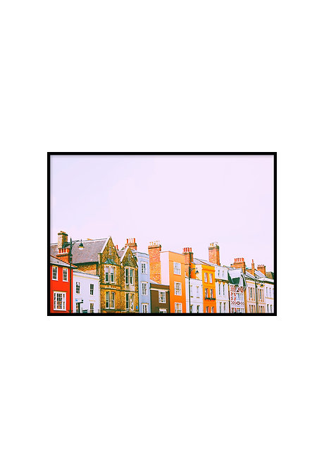 HOUSES IN A ROW, PRINTABLE