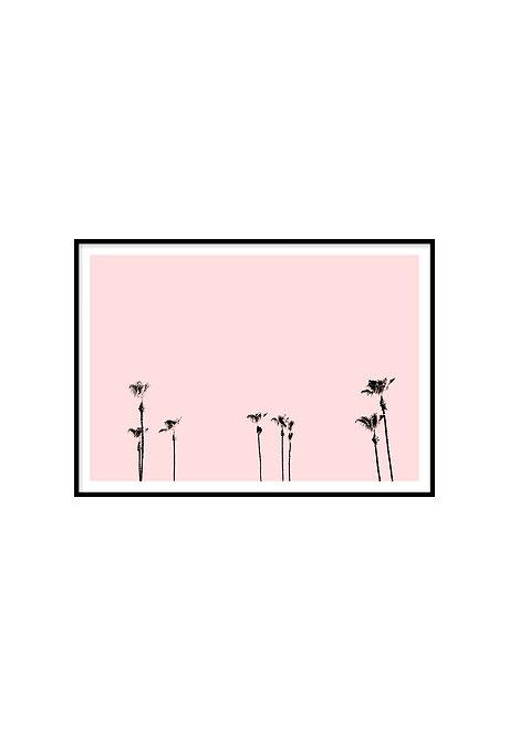 PINK PALMS, PRINTABLE