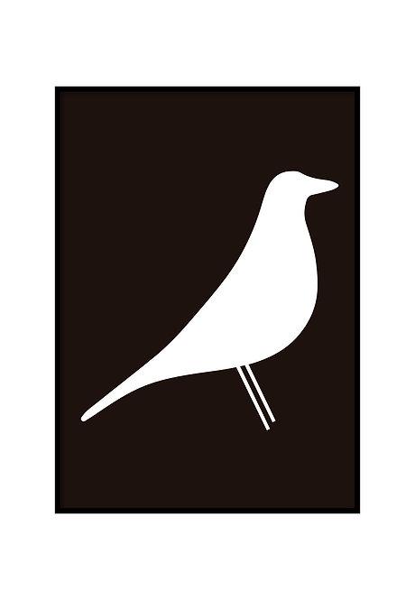 HOUSE BIRD BLACK, PRINTABLE