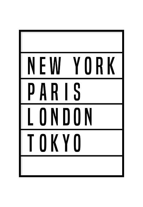 WORLD CITIES, PRINTABLE
