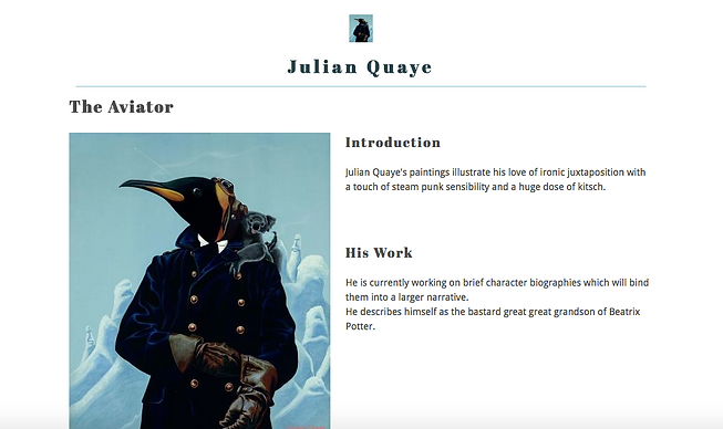 Julian Quaye website homepage