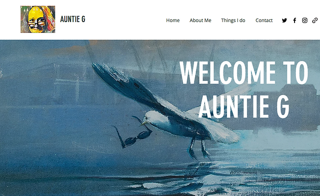 Auntie G Website home page