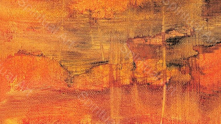 Paysage orangé de Chine I