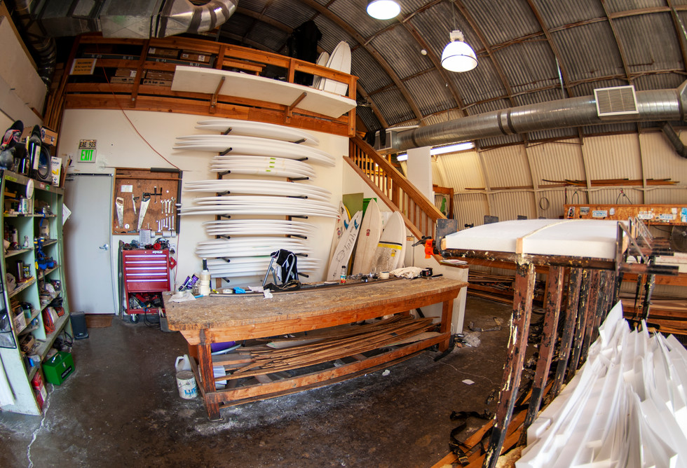 Patagonia surfboard factory