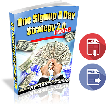 One signup a day stretegy 2.0