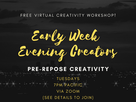 FREE Virtual Creativity Event Tonight!