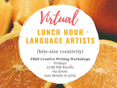 TODAY! Free Virtual Creative Writing Workshop!