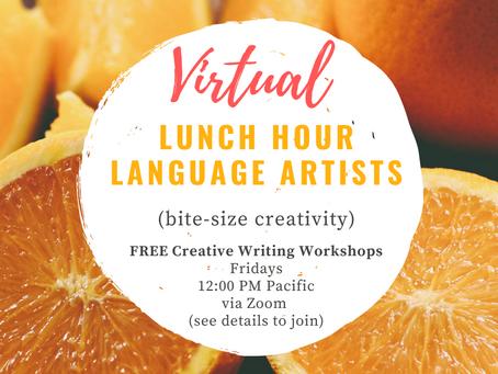 TODAY! Free Virtual Creative Writing Workshop!