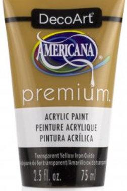 DecoArt Premium Acrylic Paint - Transparent Yellow Iron Oxide