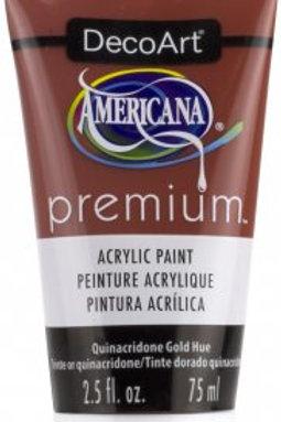 DecoArt Premium Acrylic Paint - Quinacridone Gold