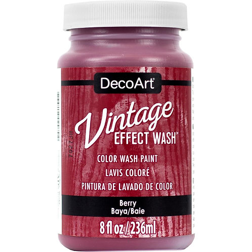 DecoArt Vintage Effect Wash - Berry