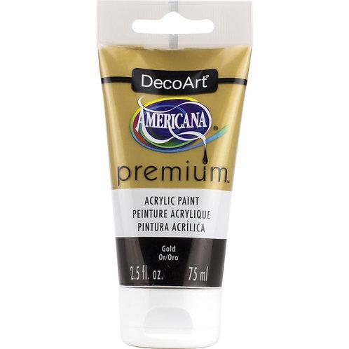 DecoArt Premium Acrylic Paint - Gold Metallic